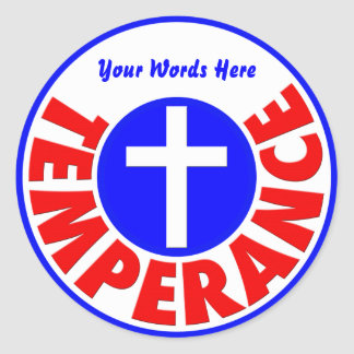 Temperance Classic Round Sticker