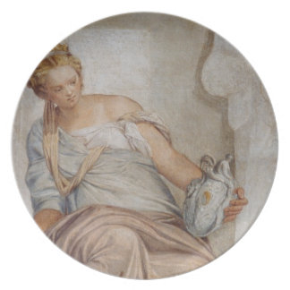 Temperance, from the wall of the sacristy (fresco) party plate