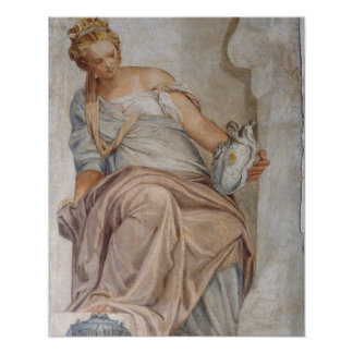 Temperance, from the wall of the sacristy (fresco) posters