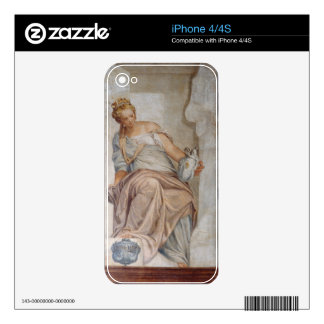 Temperance, from the wall of the sacristy (fresco) skin for iPhone 4S