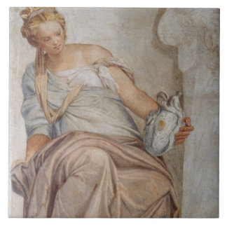 Temperance, from the wall of the sacristy (fresco) tile