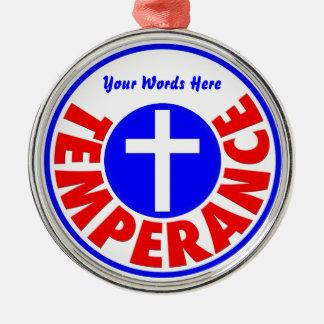 Temperance Metal Ornament