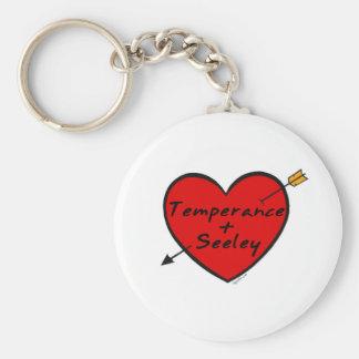 Temperance & Seeley Basic Round Button Keychain