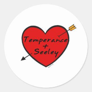 Temperance & Seeley Classic Round Sticker