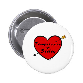 Temperance & Seeley Pinback Button