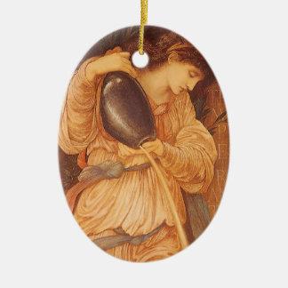 Temperantia by Burne Jones, Vintage Victorian Art Ceramic Ornament