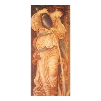 Temperantia by Burne Jones, Vintage Victorian Art Announcement