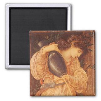 Temperantia de Burne Jones, arte del Victorian del Iman Para Frigorífico