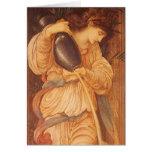 Temperantia de Burne Jones, arte del Victorian del Tarjeta De Felicitación