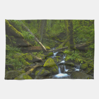 Temperate Rainforest Stream in Columbia River Towels