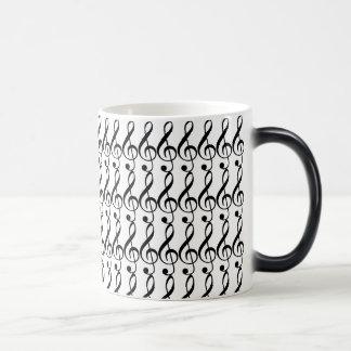 Temperature Changing TREBLE CLEF mug