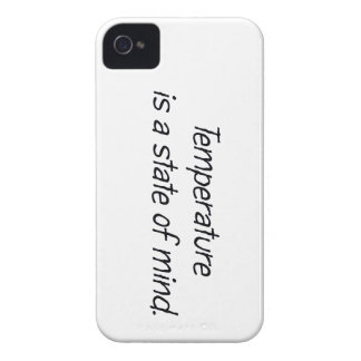 Temperature is a State of Mind iPhone 4 Cover