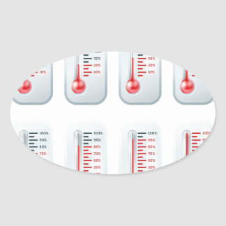 Temperature rising thermometers sticker