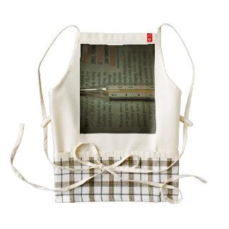 Temperature scale zazzle HEART apron