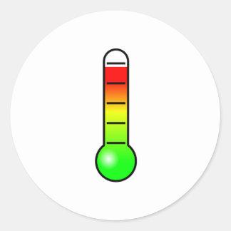 Temperature Thermometer Round Stickers