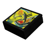 Tempest - Digital Abstract with Yellow Background Gift Boxes