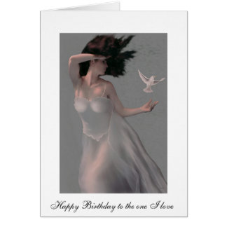 """TEMPEST"" GODDESS OF THE WIND BIRTHDAY CARD"
