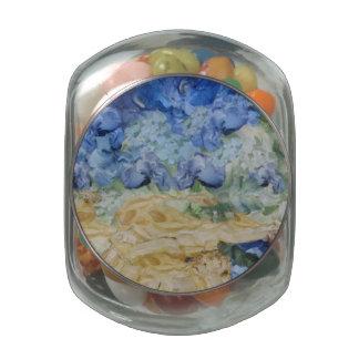 Tempest in progress glass candy jar
