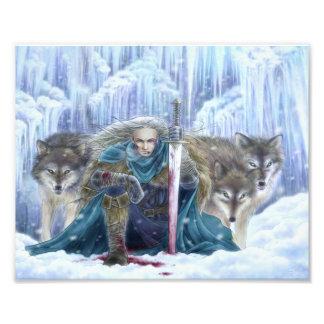Tempest of Ice Fantasy Art Photo Print