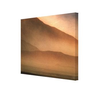 Tempestad de arena en las dunas de arena del Mesqu Impresión En Lona
