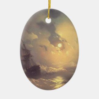 Tempestad de Ivan Aivazovsky- en el mar en el nidh Adorno