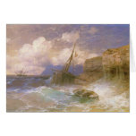Tempestad de Ivan Aivazovsky- por la costa de Odes Felicitacion