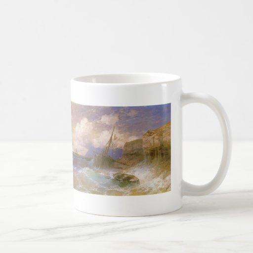Tempestad de Ivan Aivazovsky- por la costa de Odes Tazas De Café