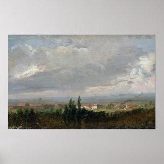Tempestad de truenos cerca de Dresden, 1830 Póster