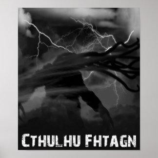 Tempestad de truenos de Cthulhu Póster