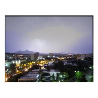 Tempestad de truenos sobre Salónica, Grecia Postales