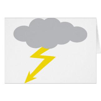 tempestad de truenos tarjeta