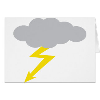 tempestad de truenos tarjeta de felicitación
