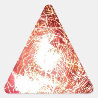 Tempestad Pegatina Triangular
