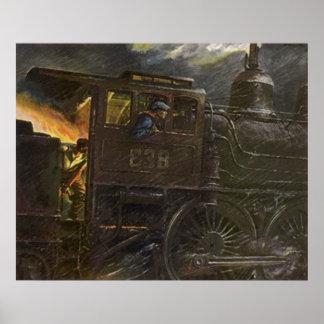 ~ tempestuoso del tren nocturno del ~ del POSTER q