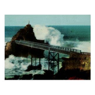 Tempête del La de Biarritz Francia LA TEMPESTAD Postales