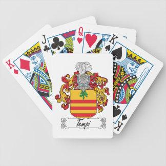 Tempi Family Crest Poker Cards