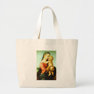 Tempi Madonna  - Children's Prayer Large Tote Bag