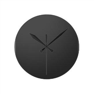 Templante DIY Blank Add Text in WHITE add photo Round Clock