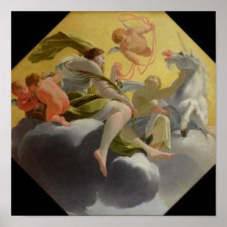 Templanza, de la serie del cardenal cuatro posters