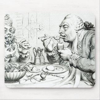 Templanza que disfruta de una comida frugal alfombrilla de ratón