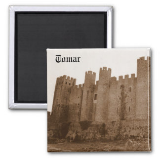 Templar Castle 2 Inch Square Magnet