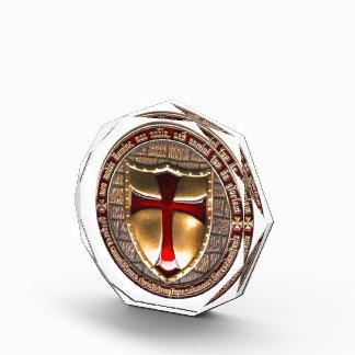 TEMPLAR COIN. ACRYLIC AWARD