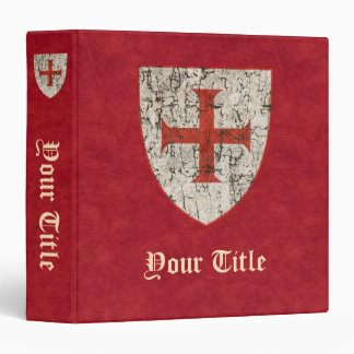 Templar Cross, Distressed 3 Ring Binder