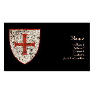 Templar Cross, Distressed Double-Sided Standard Business Cards (Pack Of 100)