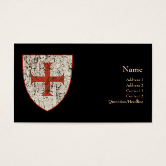 Templar Cross, Distressed Business Card