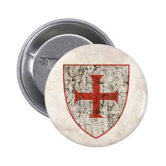 Templar Cross, Distressed Button