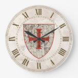 Templar Cross, Distressed Large Clock