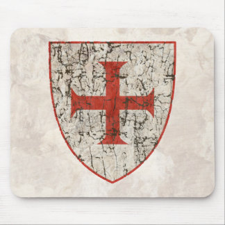 Templar Cross, Distressed Mouse Pad