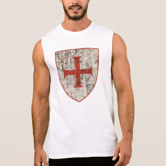 Templar Cross, Distressed Sleeveless Shirt