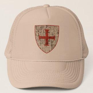 Templar Cross, Distressed Trucker Hat